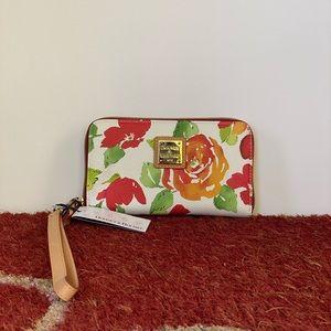 Dooney & Bourke Floral Wristlet NWT